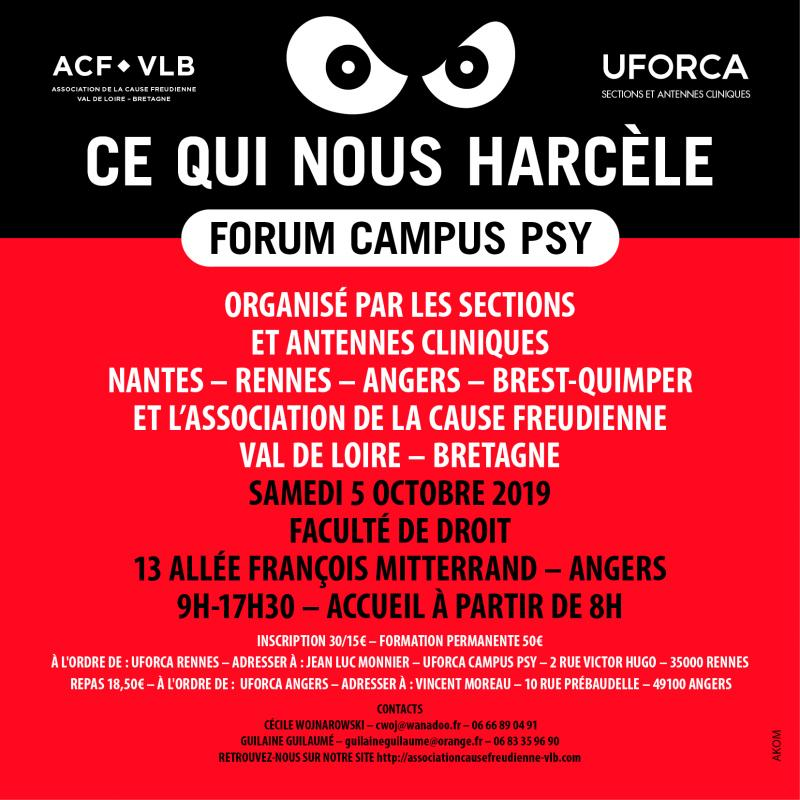 Forum campus psy 2019 annonce web
